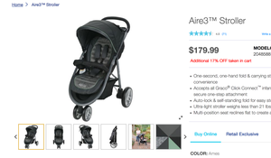 Aire3™ Stroller, new in box for Sale in Lexington, KY