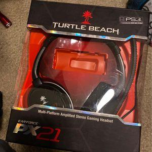 Play Station 3 Turtle Beach Head Phones for Sale in Hilmar, CA