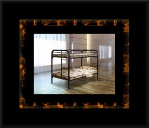 Twin bunkbed frame with mattress for Sale in Manassas, VA