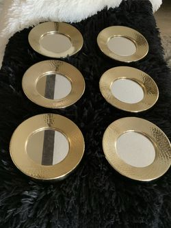 Six Gold Stainless Steel Decorative Wall Mirror $50 for Sale in Miami,  FL