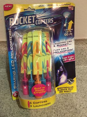 NEW As Seen On Tv Rwb Rocket Copters for Sale in Temecula, CA