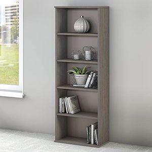 NEW Bush Furniture Commerce 5 Shelf Bookcase in Cocoa and Pewter for Sale in Miami, FL
