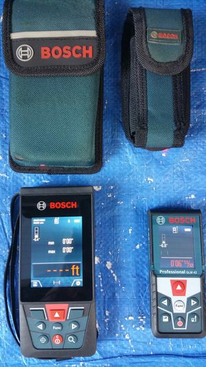 $225. Excellent Condition. Bosch GLM 400C (( 400 ft with bluetooth and Camera )). and BOSCH GLM42 135 ft for Sale in Evergreen, CO
