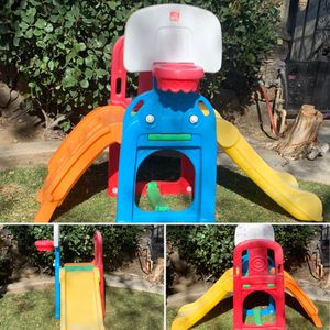 step 2 toddler playground climber with kids slide and basketball hoop for Sale in Fontana, CA