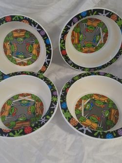 Vintage 90s Teenage Mutant ninja Turtles 4 Gerber Bowls for Sale in Huttonsville,  WV