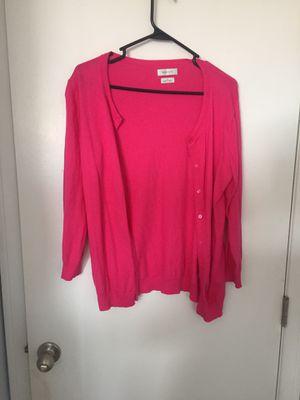 Van Heusen Hot Pink 3/4 sleeve cardigan Size Medium for Sale in Santa Fe Springs, CA