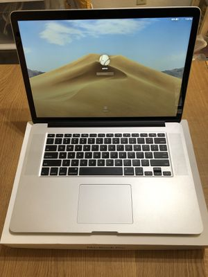 MacBook Pro 15 inch 2015 2.8ghz i7(high processor) 16GB 500GB SSD ADM Radeon R9 M370X 2GB model with paid programs for Sale in Ontario, CA
