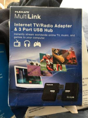 Internet TV/Radio adapter & 3 port USB HUB for Sale in Oakland, CA