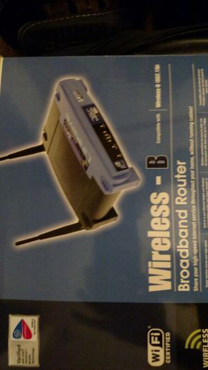 Linksys wireless router in box. Also have one loose. for Sale in Talcott, WV