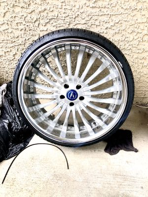 22 inch chrome universal rims 5x14 for Sale in Spring, TX