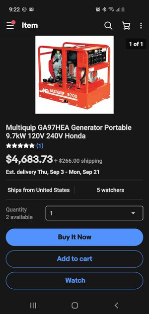 Mq generator for Sale in Princeville, IL