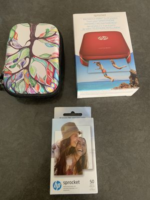 HP Sprocket instant camera/paper and case for Sale in Trabuco Canyon, CA