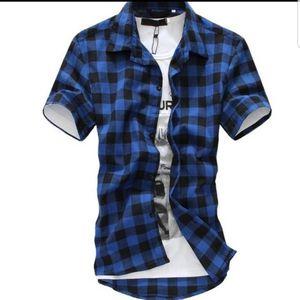 Mens plaid shirt Royal Blue for Sale in BROOKSIDE VL, TX