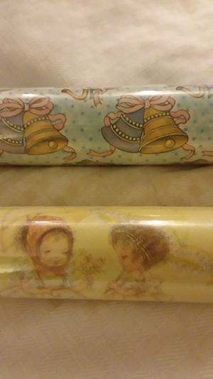 Two rolls of vintage bridal shower gift wrap for Sale in Marysville, WA
