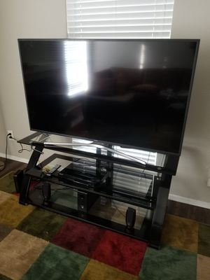 55 inches Samsung TV and the TV stand both for seal... for Sale in Dallas, TX