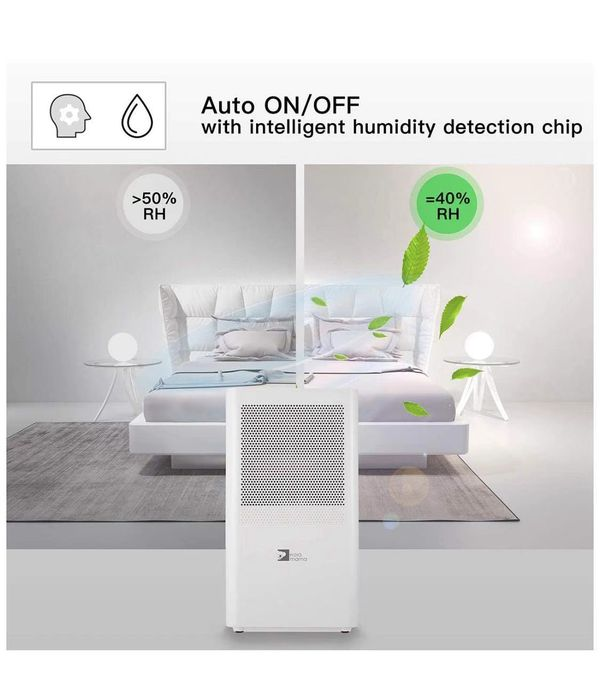 Dehumidifier,Portable Dehumidifier 68oz per day with 3L(6.4 Pints) Water Tank for Room Up To 323 Sq.ft(30m²),mini Dehumidifier for home bathroom Kitch