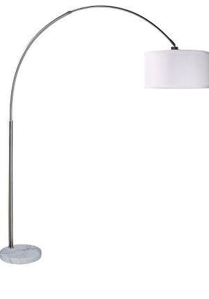 Brush Steel Arching Floor Lamp - white for Sale in Henderson, NV