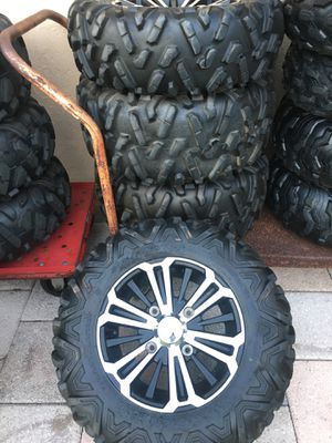 Honda pioneer 1000 tires and wheels takeoffs no patches no plugs new condition for Sale in Coconut Creek, FL