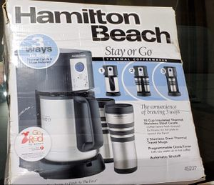 HAMILTON BEACH STAY OR GO COFFEE MAKER for Sale in York, PA