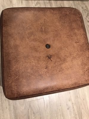 Leather ottoman (2) for Sale in Bethesda, MD