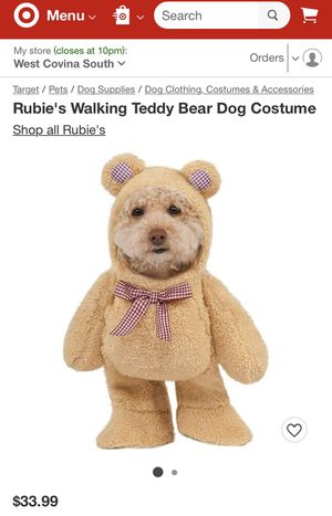 Teddy Bear Dog Costume (Size Large) for Sale in La Puente, CA