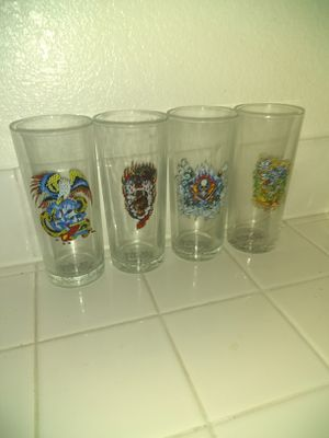 Set of 4 Ed Hardy glasses for Sale in Las Vegas, NV