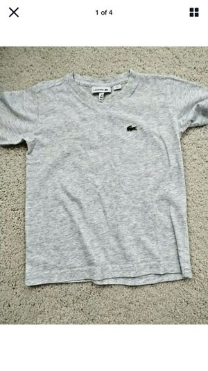 LACOSTE KIDS Grey T-Shirt Short Sleeve Shirt Size 4 104 cm 41 Inch 100% Cotton for Sale in Renton, WA