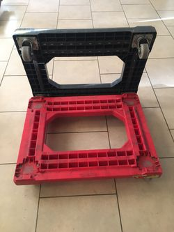 PLATFORM HAND TRUCK HEAVY DUTY COMMERCIAL GRADE RESISTANT TO MOST ANYTHING ALL FOUR WHEELS ROTATE AND PIVOT MOVES WITH EASE SMOOTH ROLLING $10 EACH for Sale in North Las Vegas,  NV
