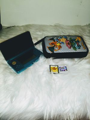 Nintendo 3DS With Pokemon Case And Two Games for Sale in Hillcrest Heights, MD