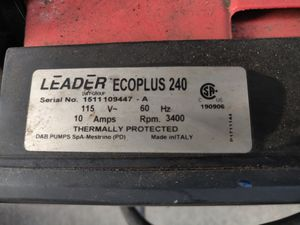Leader Ecotronic 240 3/4hp pump for Sale in Manhattan Beach, CA