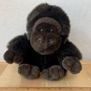 "FAO Schwartz Fifth Avenue Dark Brown Monkey Gorilla Plush 8"" Stuffed Animal Toy for Sale in Elizabethtown, PA"