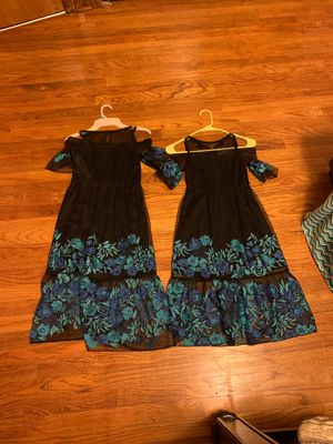 black dress with blue flowers, $14 each for Sale in Parma, OH