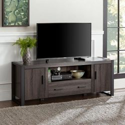Urban Blend 60 in. Charcoal MDF TV Stand for Sale in Houston,  TX