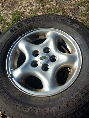 Goodyear tire w/LandRover cover for Sale in Harrisonburg, VA