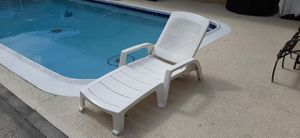 Silla de Patio Piscina. Pool Patio Lounge Chairs Heavy Duty. for Sale in Fort Lauderdale, FL