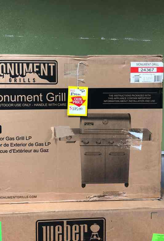 Monument Propane Gas Grill Stainless Steel