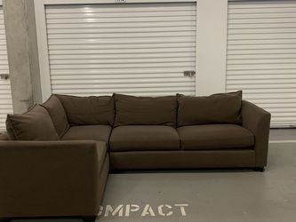 FREE DELIVERY Brown Crate & Barrel 2PC Sectional for Sale in Seattle,  WA