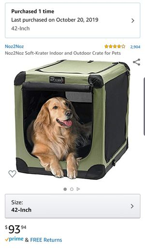 Collapsible dog crate for Sale in Issaquah, WA