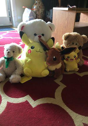 8 stuff animals and pokmon , 1 price for Sale in Niles, IL