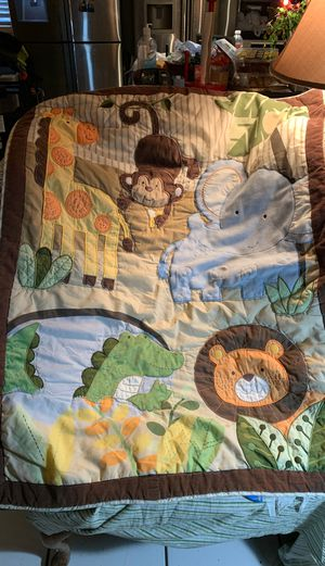 Baby blanket and crib bumper set for Sale in Las Vegas, NV