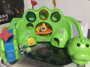 FISHER PRICE DROP N ROAR DINO DINOSAUR BALL DROP TOY BABY TODDLER LEARNING TOY for Sale in San Antonio, TX