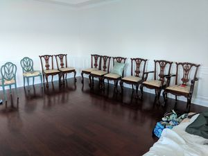 Set of 8 Solid Mahogany Ball & Claw Chippendale Chairs for Sale in Lake Wales, FL