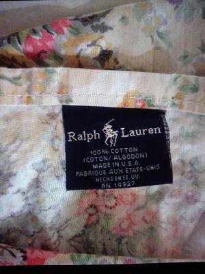 CUTTER Ralph Lauren Floral Cotton Queen Flat Sheet to Repurpose for Sale in Las Vegas, NV