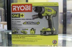 Ryobi P1812 18V ONE with Lithium Battery and Hammer Drill Kit for Sale in St. Petersburg, FL