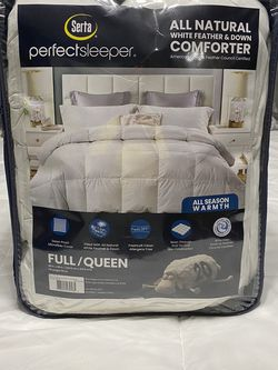 Serta All Natural White Feather & Down Comforter for Sale in Bakersfield,  CA