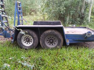14ft trailer 8 lug tandem as is no title for Sale in Houston, TX