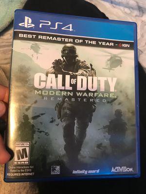 Call of duty modern warfare remastered for Sale in Phoenix, AZ