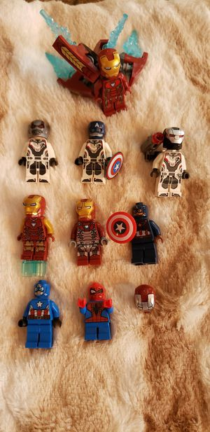 Lego minifigures ironman spiderman captain America for Sale in Streamwood, IL