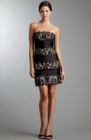 BCBG MAXAZRIA Strapless Satin & Lace Dress - Size 4 for Sale in South Windsor, CT