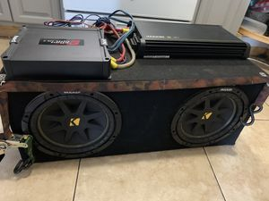 Kicker Subwoofer and Amplifier Sound System for Sale in Santa Ana, CA